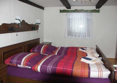 Schlafzimmer in der Ferienwohnung 1