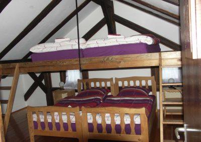 Betten in der Ferienwohnung 1
