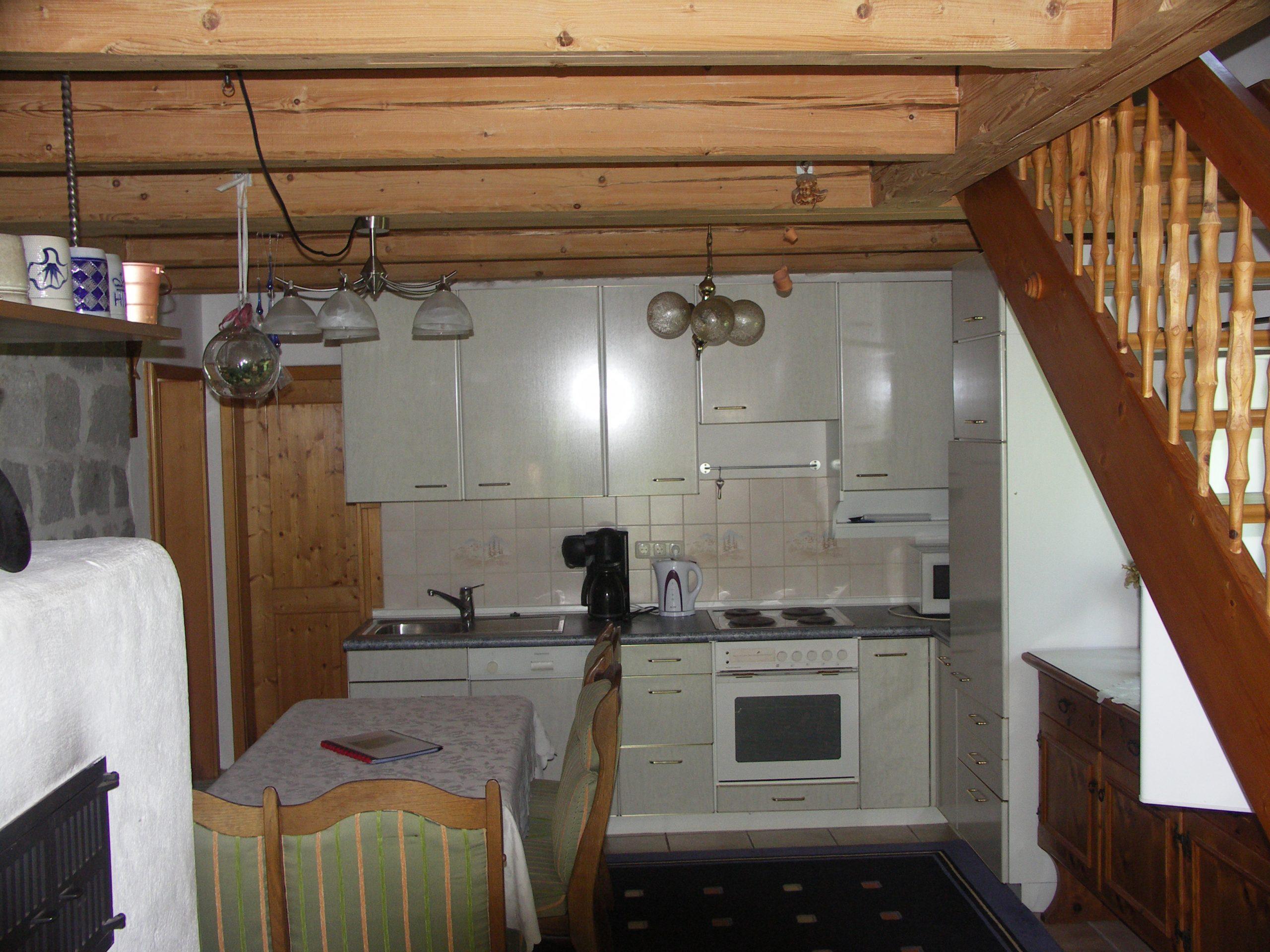 Küche in der alten Scheune